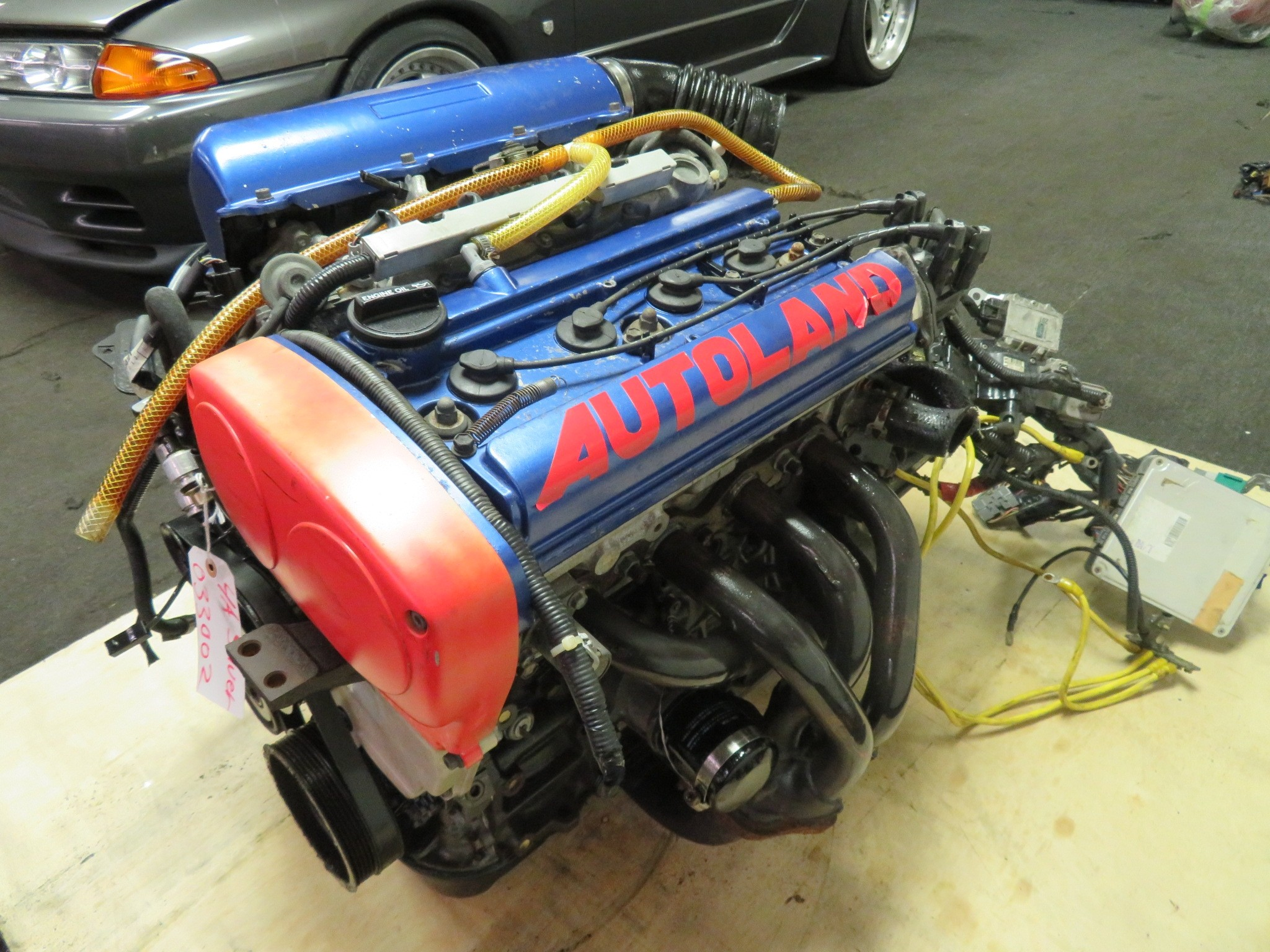 JDM TOYOTA COROLLA LEVIN 4AGE SILVERTOP TWIN CAM 20 VALVE ENGINE, 5 SPEED TRANSMISSION