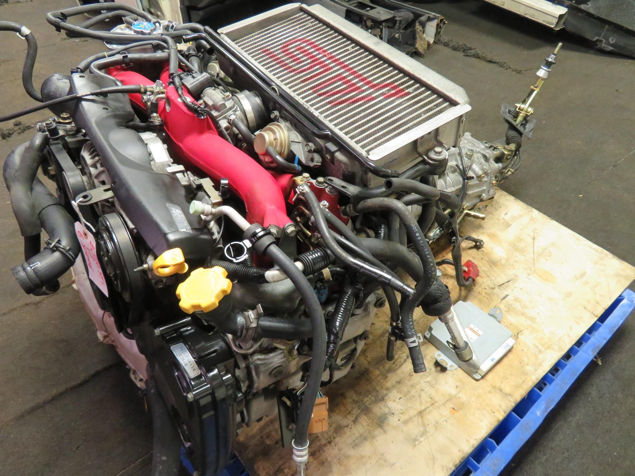 04-05 JDM SUBARU WRX STI EJ20 2.0L TURBO ENGINE, 6 SPEED TRANSMISSION, ECU VERSION 8