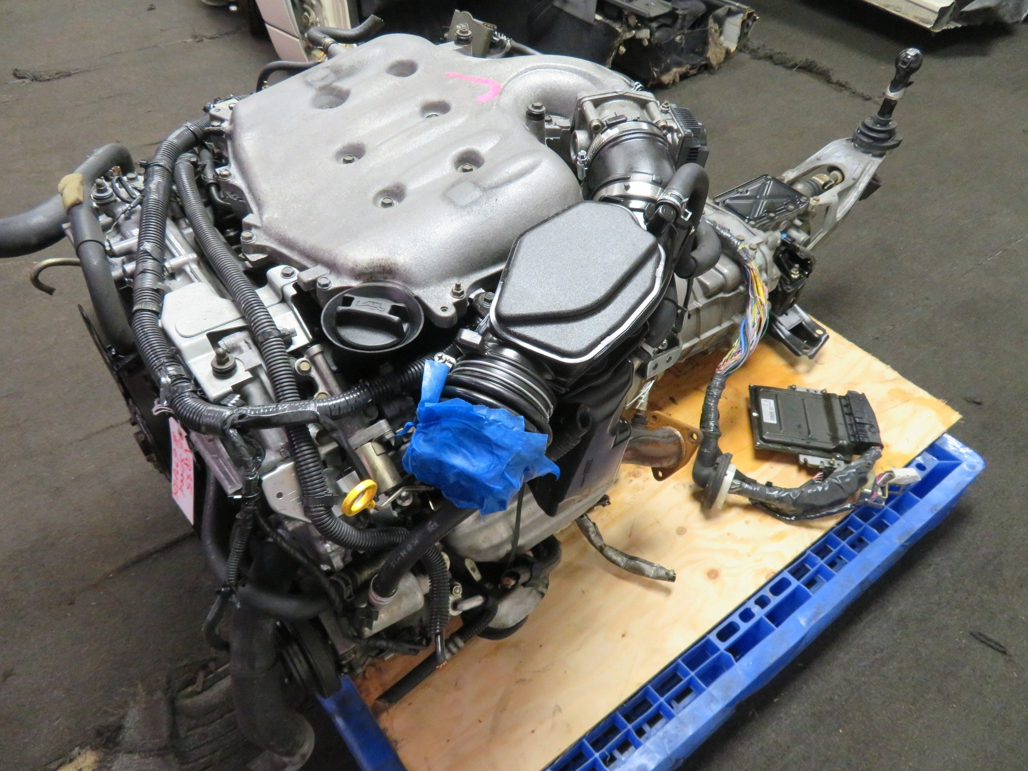 2003-2005 JDM NISSAN 350Z INFINITI G35 VQ35DE 3.5L V6 ENGINE, 6 SPEED TRANSMISSION, WIRING HARNESS, ECU