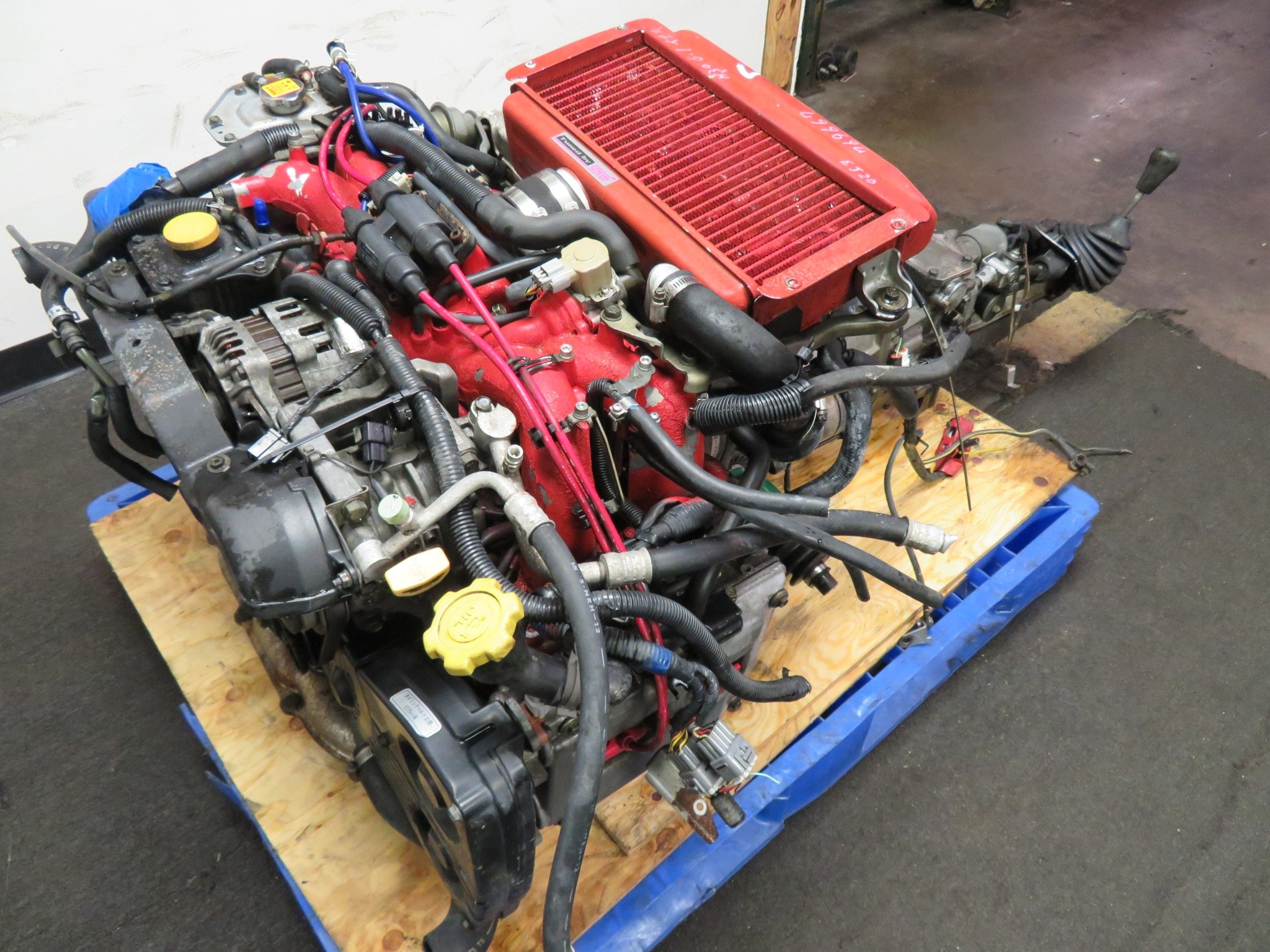 96-97 JDM GC8 SUBARU WRX STI EJ20 2.0L TURBO ENGINE, 5 SPEED TRANSMISSION, WIRING, ECU