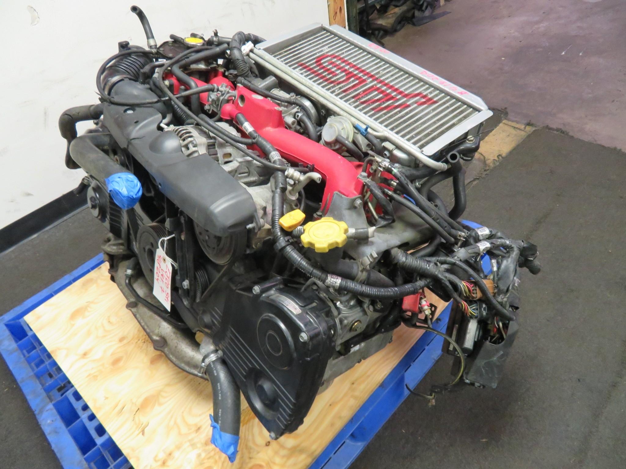01-03 JDM SUBARU WRX STI VERSION 7 EJ20 2.0L TURBO ENGINE, INTERCOOLER, ECU
