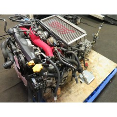 04-05 JDM SUBARU WRX STI EJ20 2.0L TURBO ENGINE, 6 SPEED TRANSMISSION, ECU VERSION 8