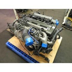 JDM TOYOTA SUPRA ARISTO 2JZGTE TWIN TURBO 3.0L 6 CYLINDER ENGINE, AUTO TRANS, WIRING HARNESS, ECU