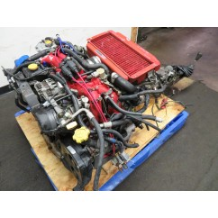 96-97 JDM GC8 SUBARU WRX STI EJ20 2.0L TURBO ENGINE, 5 SPEED TRANSMISSION, WIRING, ECU