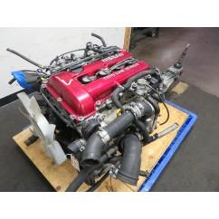 90-93 JDM NISSAN SILVIA SR20DET S13 REDTOP 2.0L TURBO ENGINE, 5 SPEED TRANSMISSION, WIRING, ECU
