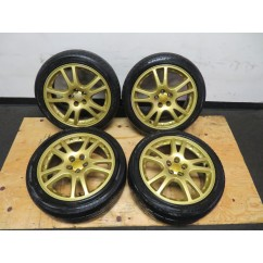 JDM SUBARU WRX VERSION 7 STI 17'' GOLD WHEELS 17 X 7.5 / 5X100